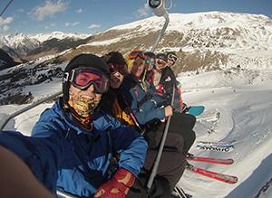 Convivencia de esquí del Colegio Mayor Moncloa en Cerler