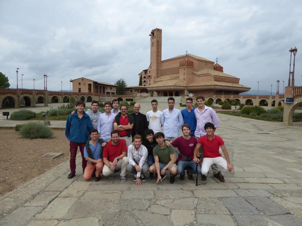 Convivencia en Torreciudad con los residentes de 2º del Colegio Mayor Moncloa