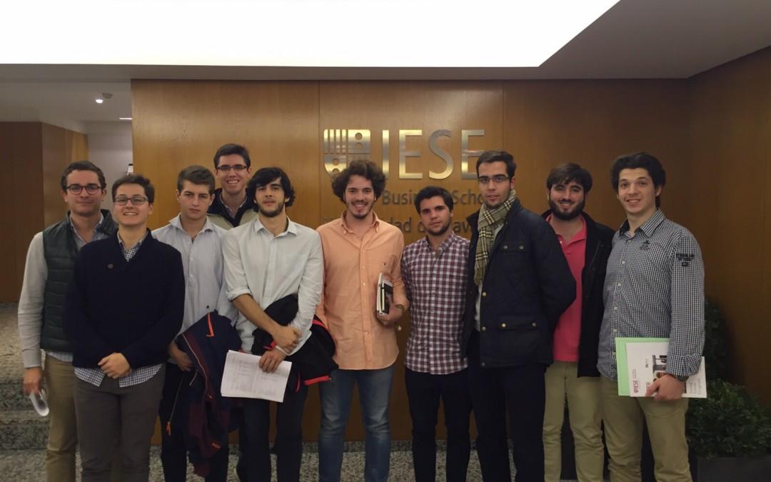 Sesiones de business talk en el IESE de Madrid con residentes del Colegio Mayor Moncloa