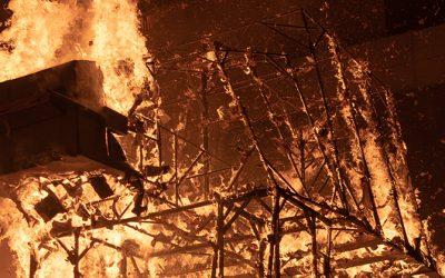 El AT-AT arde en Madrid