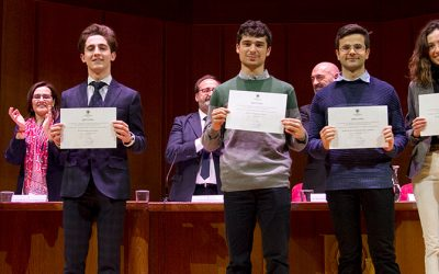 Javier Esplugues, uno de los 100 premiados por la UCM por su expediente de acceso a la universidad